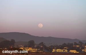 Moon rise Morro Bay