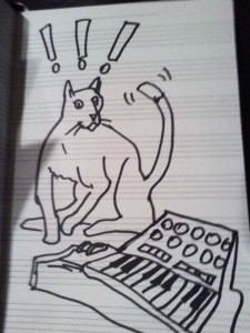 synth cat, by JB