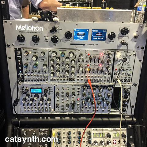 Mellotron 4000D rack and Intellijel modules