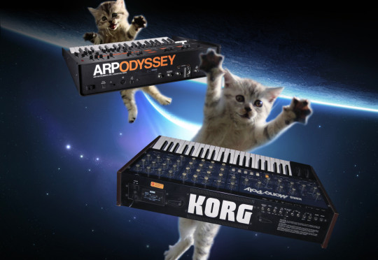 Arp Odyssey and Korg Mono/Poly