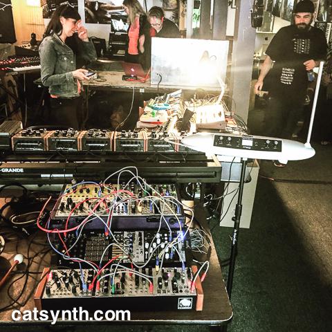 Amanda Chaudhary synthesizer setup