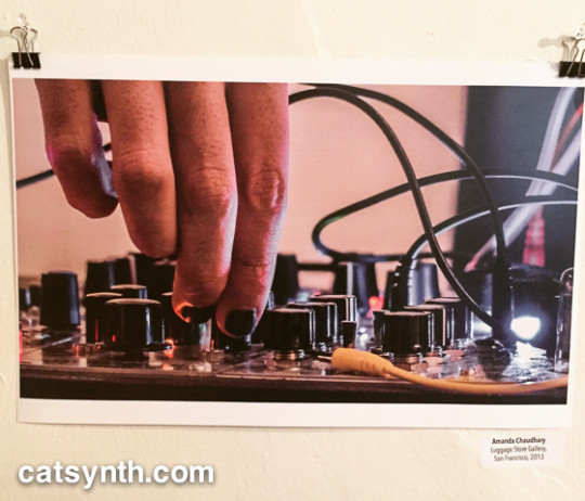 Peter B Kaars photo of Amanda Chaudhary on modular synth