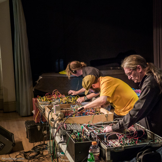Serge synthesizer trio