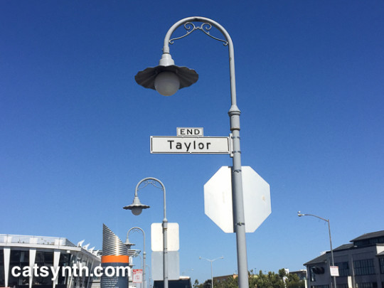North terminus of Taylor Street
