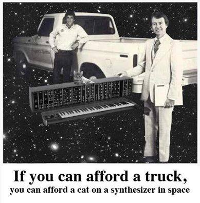If you can afford a truck you can afford a cat on a synthesizer in space.