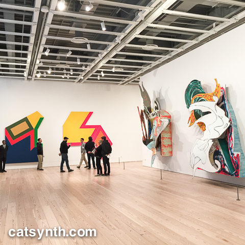 Installation view.  Frank Stella