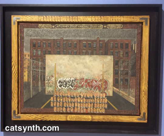 "Attorney Street (Handball Court With Autobiographical Poem by Piñero),"" dated 1982-84"