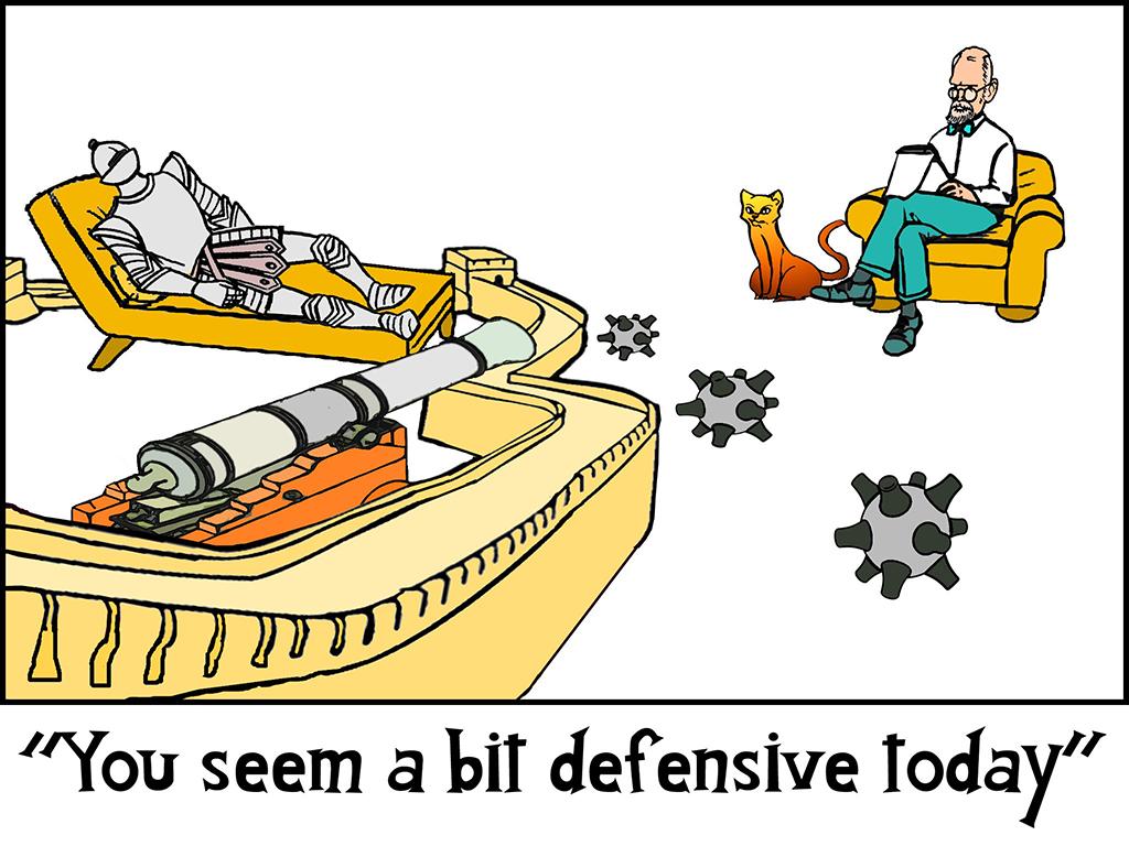 Mensa Cat Monday: Defensive