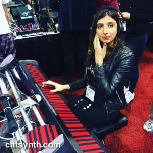 Amanda C on the Haken Continuum keyboard