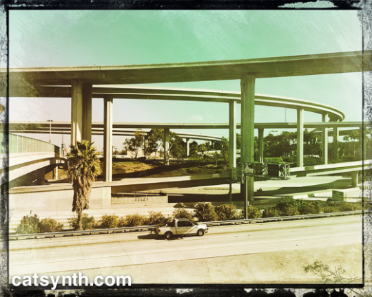Interchange of the Century Freeway (I-105) and Harbor Freeway (I-110)