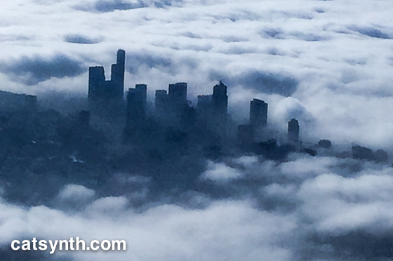 Seattle in fog