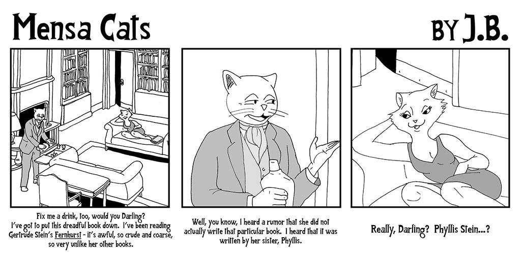 Mensa Cats Gertrude Stein